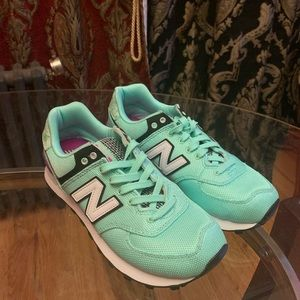 New Balance | Green and Purple Sneakers
